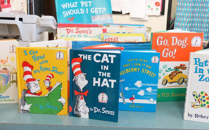A collection of Dr. Seuss favorites on a table