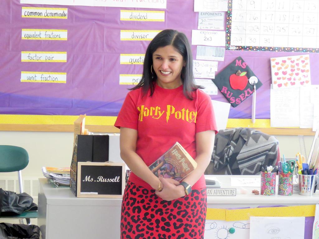 The Superintendent, wearing a Harry Potter shirt