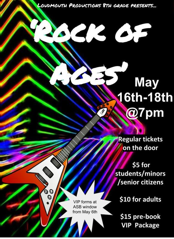 Poster advertising Rock of Ages Performances