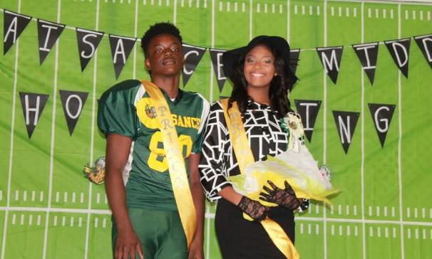Plaisance Middle School Prince & Princess Cameron Randell and Lauryn Biagase !