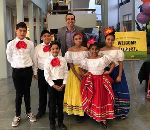 Folklorico Club students with SJ Mayor, Sam Liccardo