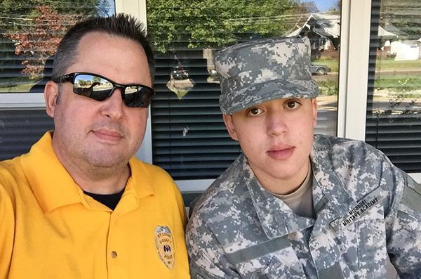 Missouri Military Academy dad and cadet