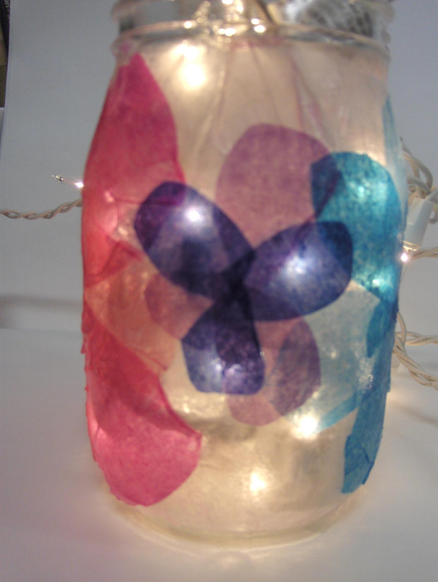 glass jar art