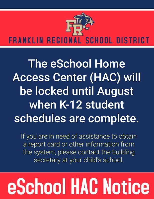HAC Summer Closure