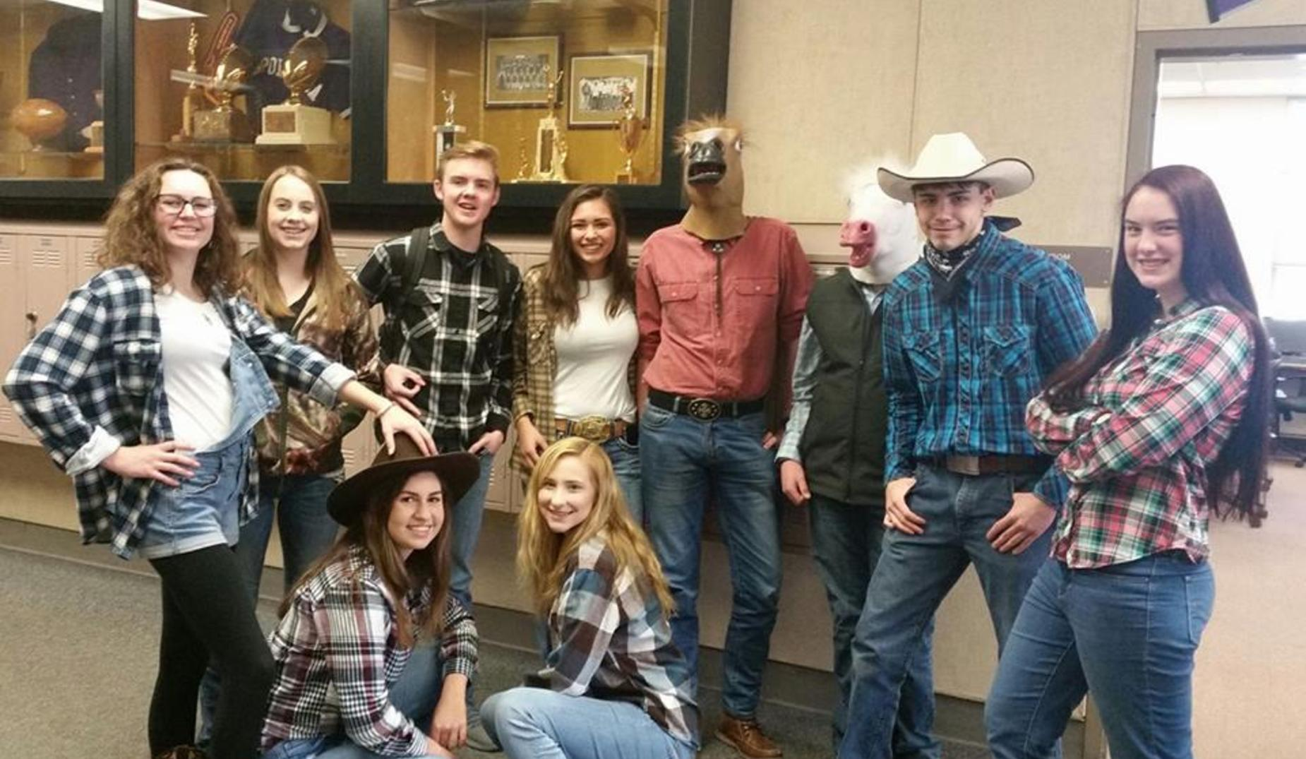 Cowboy day during Homecoming