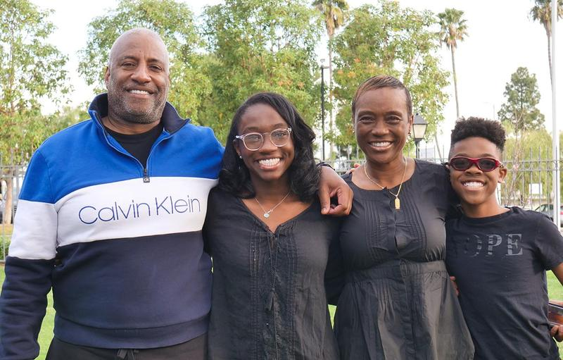 Kai Nickerson and her family