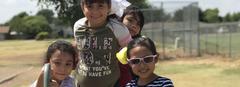 K-5 students having fun at recess!