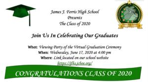 Graduation invite Class of 2020
