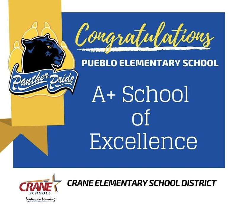 Pueblo Elementary Receives A+ Recognition Featured Photo