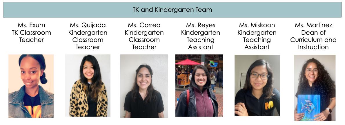 TK and Kindergarten Team