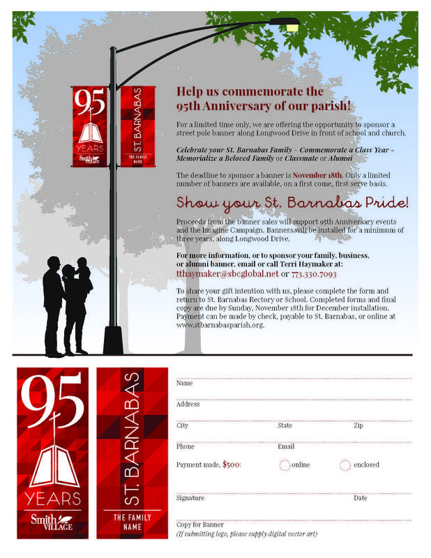 Sponsor a banner for the 95th Anniversary Featured Photo