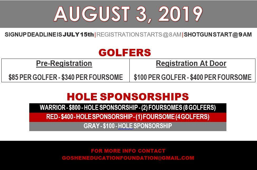 Goshen Golf Outing Details