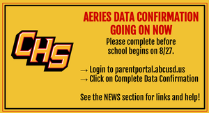 Data Confirmation on Aeries info