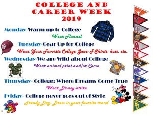 College & Career Week 2019 dress-up days