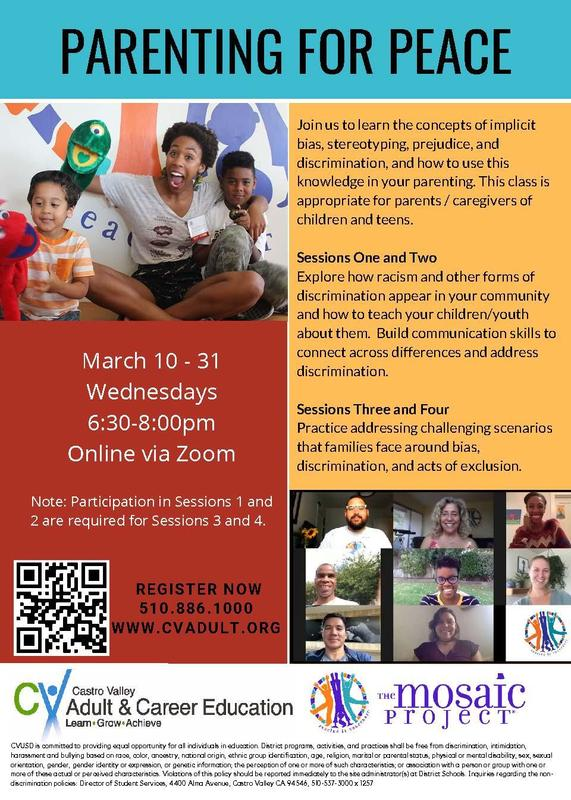 flyer for parenting for peace