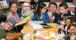 LEVEF's First Book donation program at Withrow ES in 2019