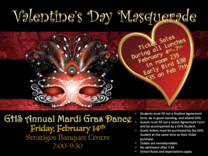 Friday, February 14th at Stratigos Banquet Centre.