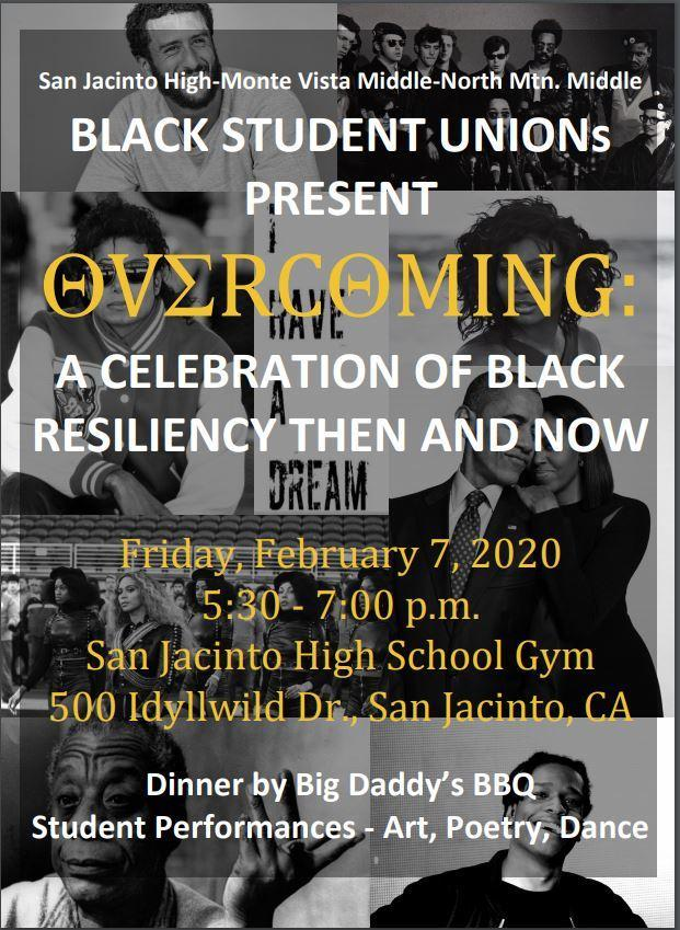 Black History Month Celebration, February 7, 2020!