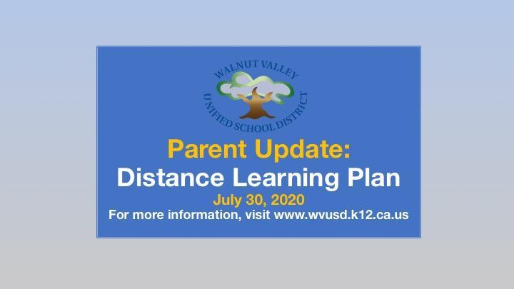 Superintendent's Parent Update -  July 30 Featured Photo