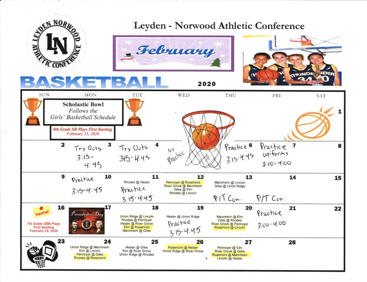 Feb Schedule