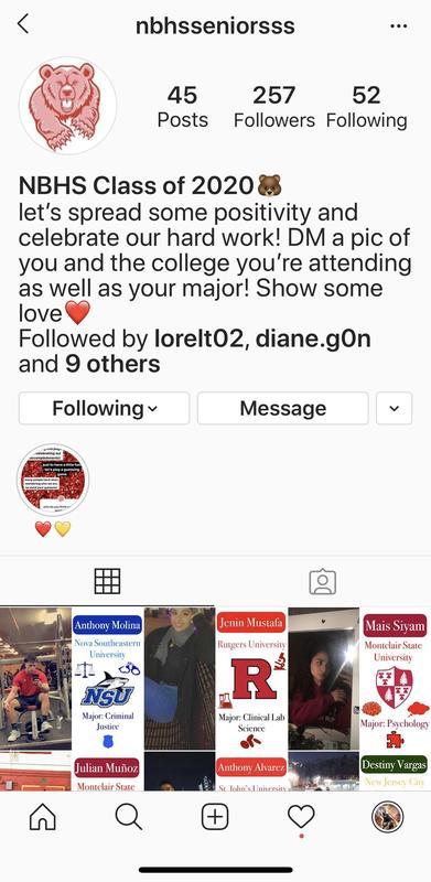 North Bergen High School Seniors Instagram Account