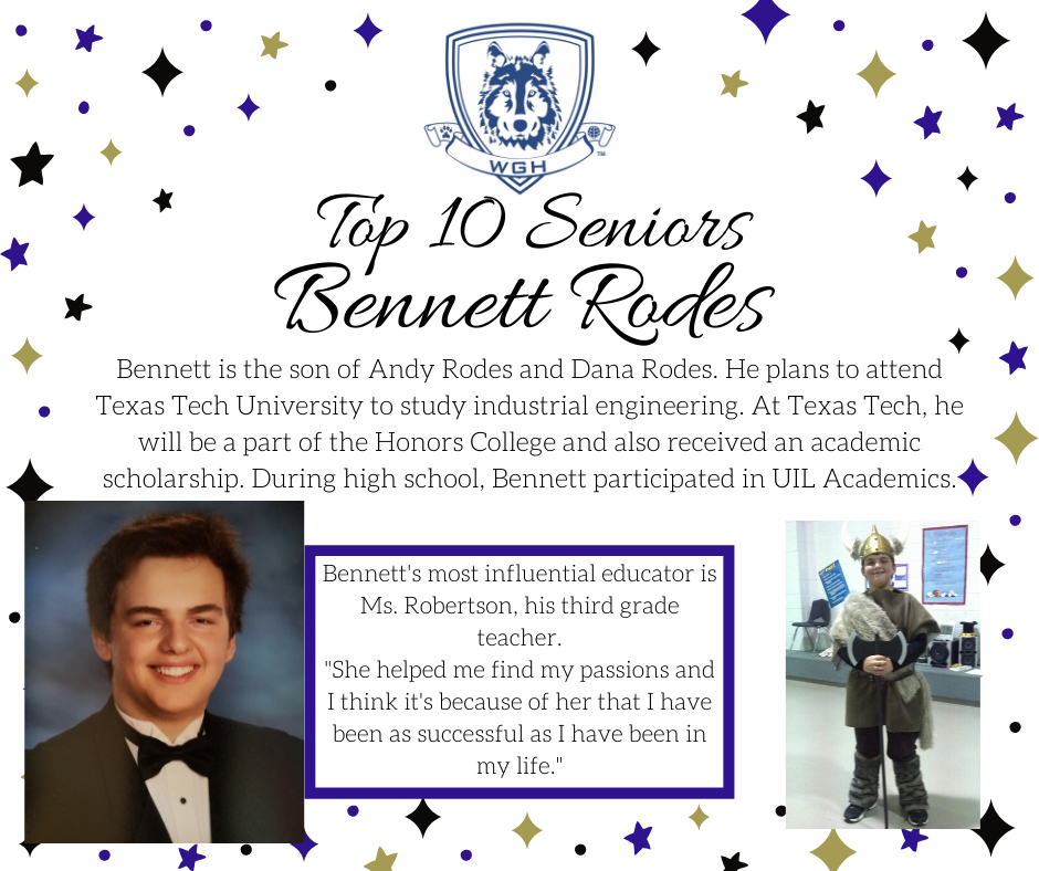 graphic of bennet rodes