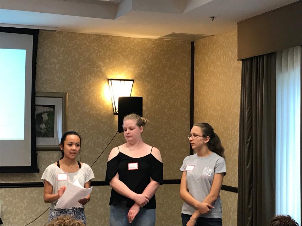 Girls of STEM kick-off meeting.