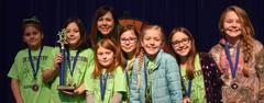 Blue Haze Elementary's Destination Imagination Team, the Mindcrushers,