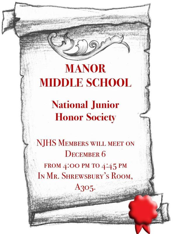 NJHS meeting flyer