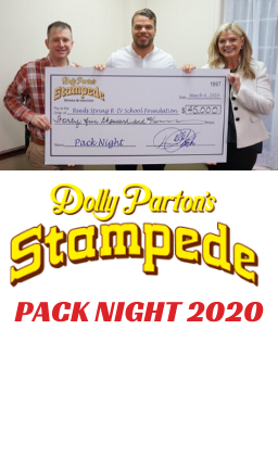 PICTURE OF PACK NIGHT CHECK PRESENTATION