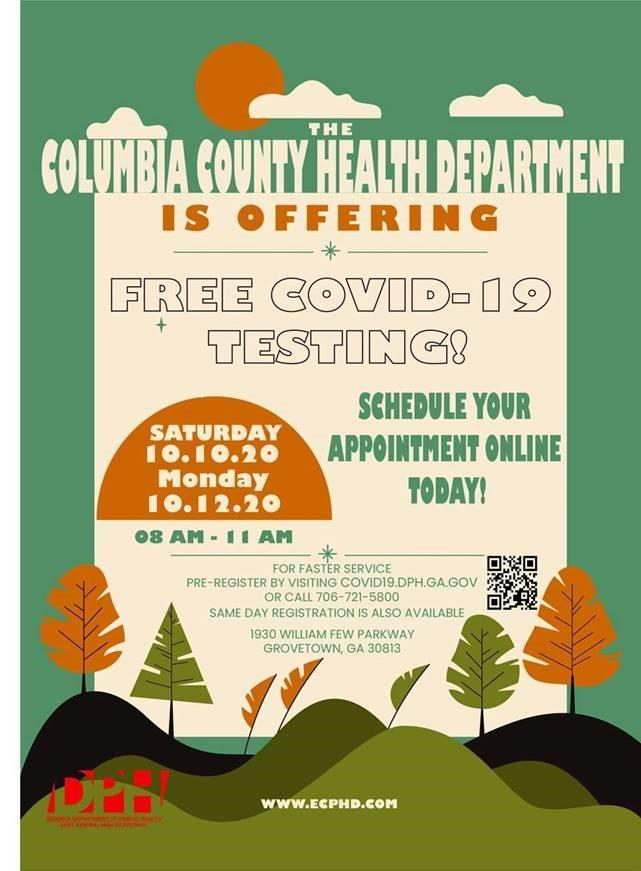 Columbia County Public Health Free Covid Testing