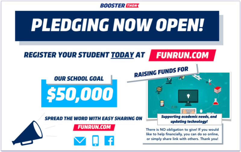 Register today for the PTO Boosterthon! Featured Photo