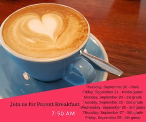 parent breakfast coffee cup