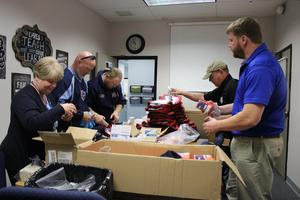 packing of Red Cross trauma kits at Rockvale Elementary