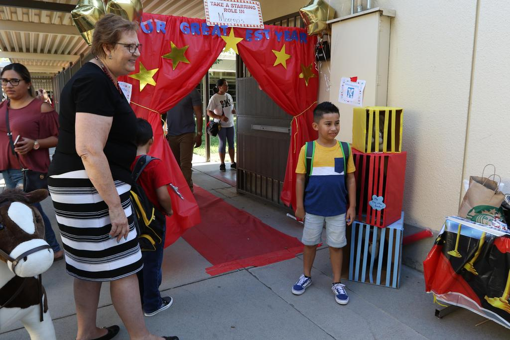 First day of school at Moreno Elementary