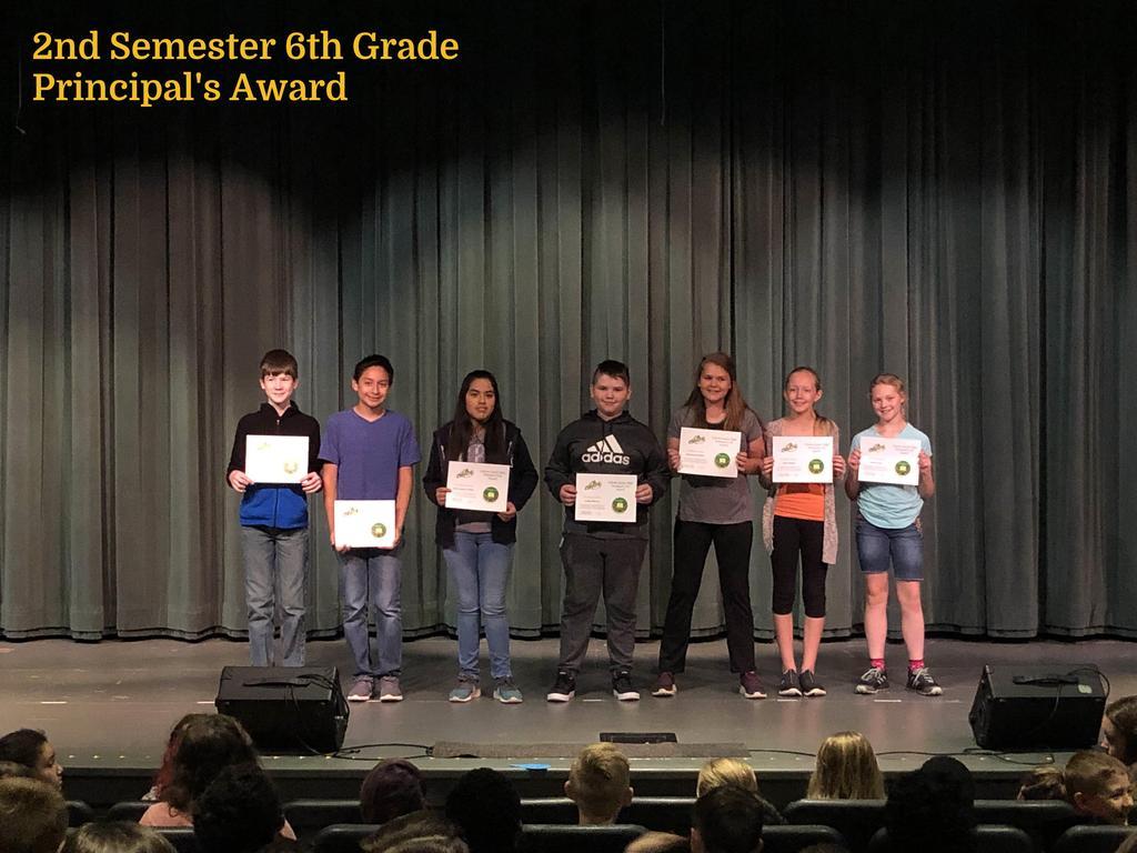 S2 6th Grade Principal's List