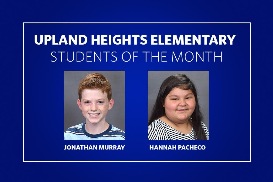 Upland Heights Students of the Month