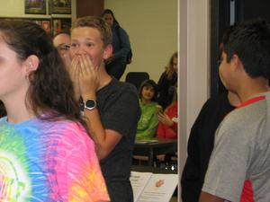 Students surprised with new room