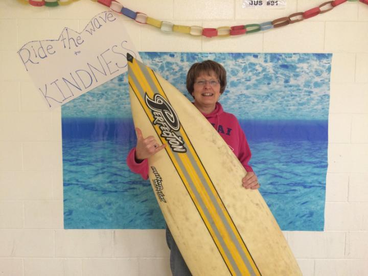 Mrs. Bennett is riding the wave of kindness.
