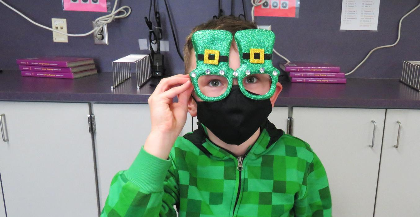 Students enjoyed wearing their green on St. Patrick's Day.