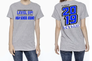 class of 2019 for 8th graders non a grey shirt