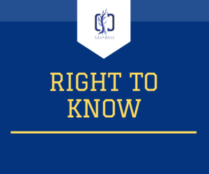 Graphic that says Right to Know
