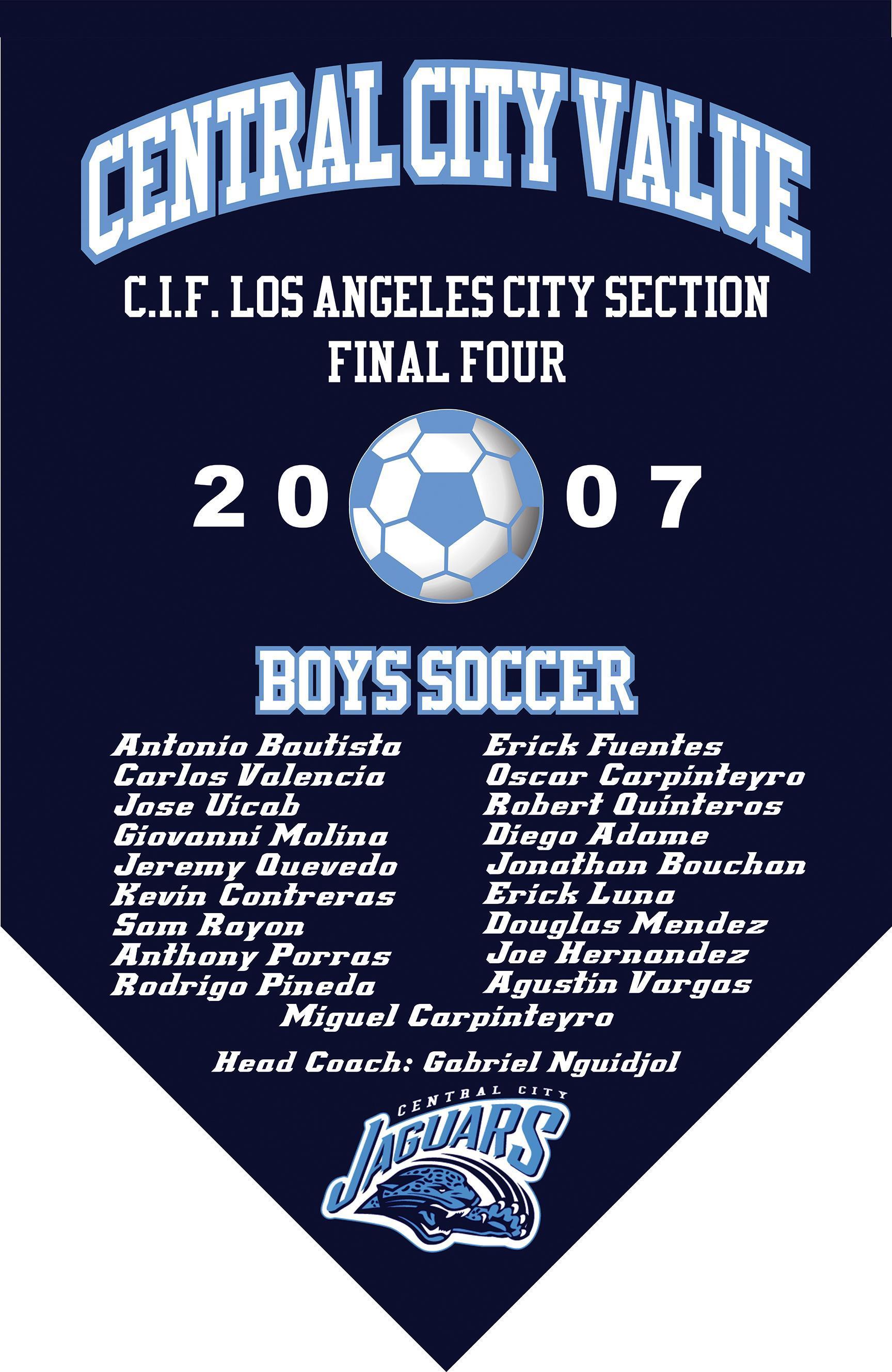 2007 Boys Soccer Final Four Banner