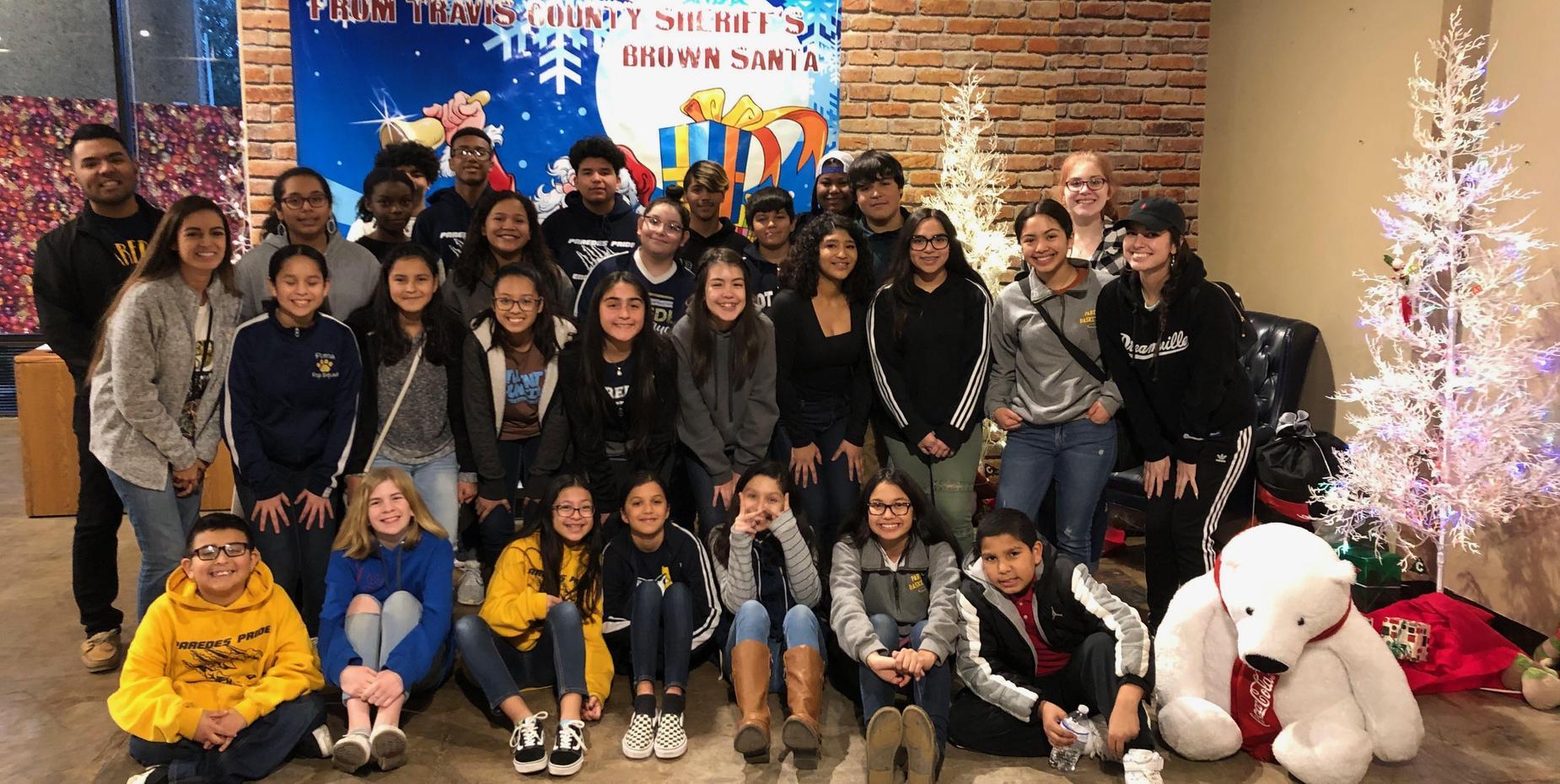 Student leaders at Brown Santa