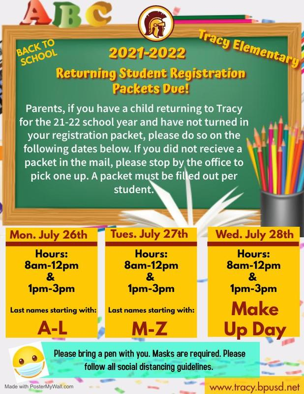 Returning Students Registration Packets Featured Photo
