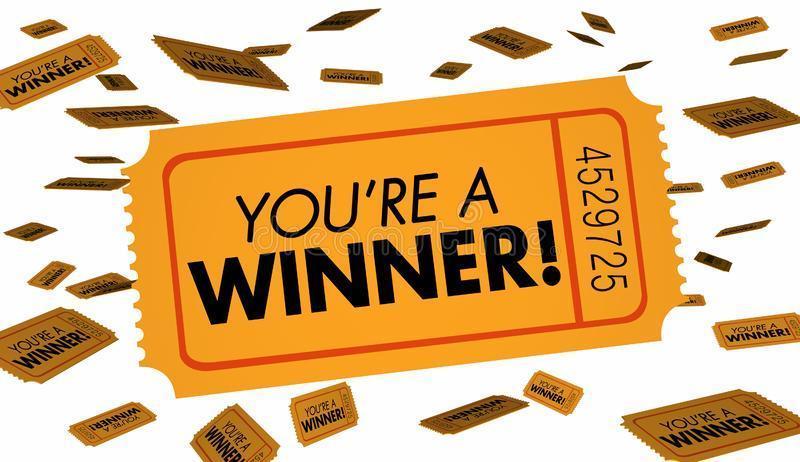 You're a winner! Raffle Ticket photo.