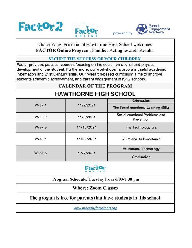 Factor 2 Online Program