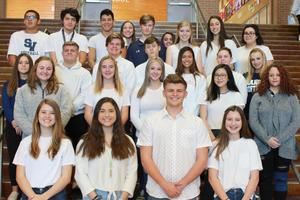 SVHS VFW Voice of Democracy participants 2019