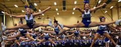 The Brewer Cheerleaders perform during the school pep rally on Aug. 31.