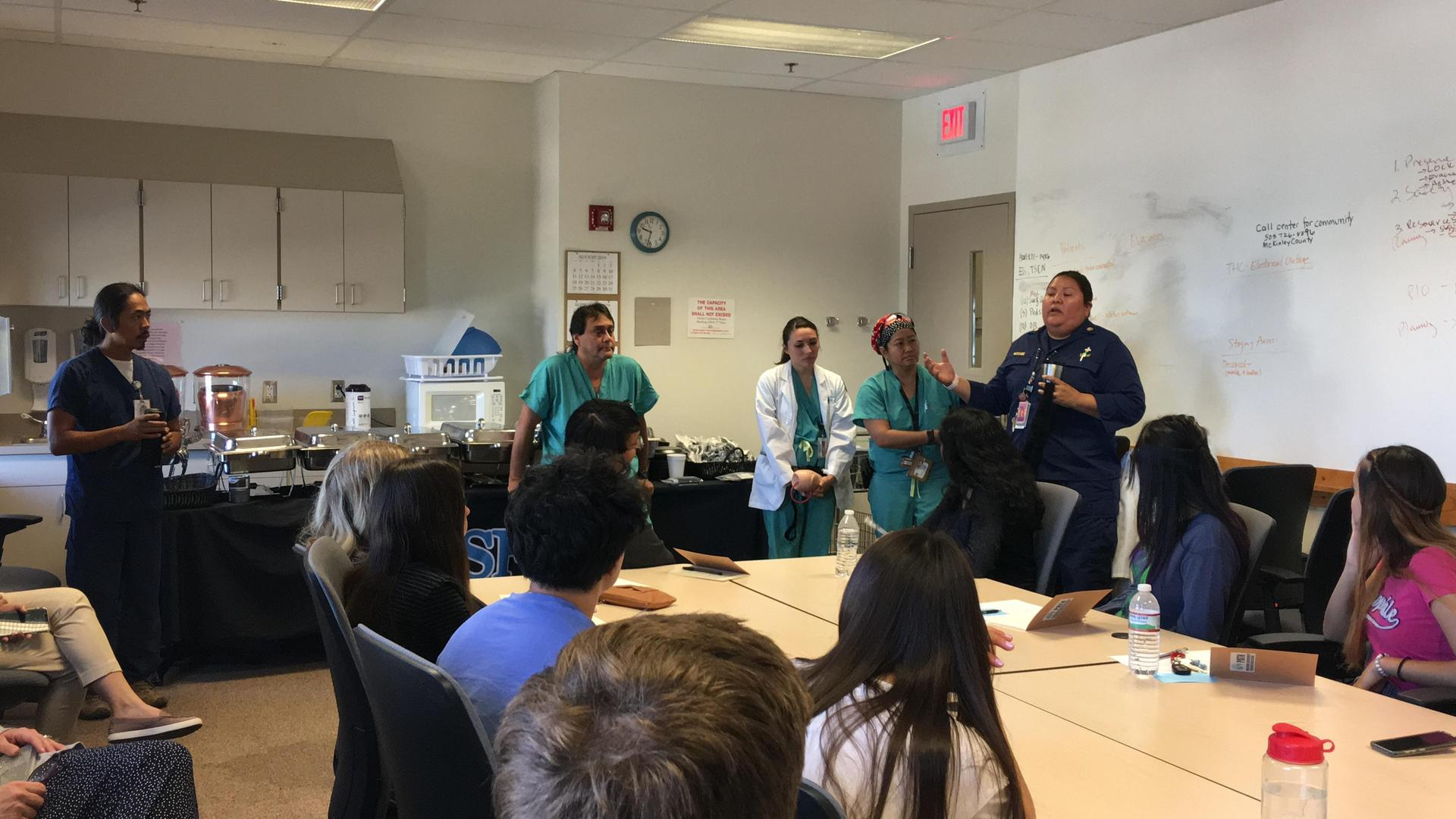 students Learning about Healthcare Pathways